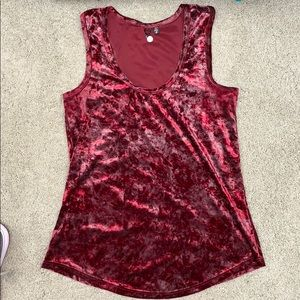 BKE Boutique crushes velour camisole.  Size L.